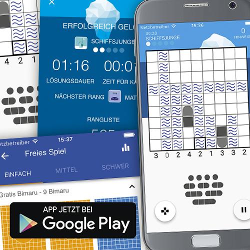 Bimaru für Android Smartphone